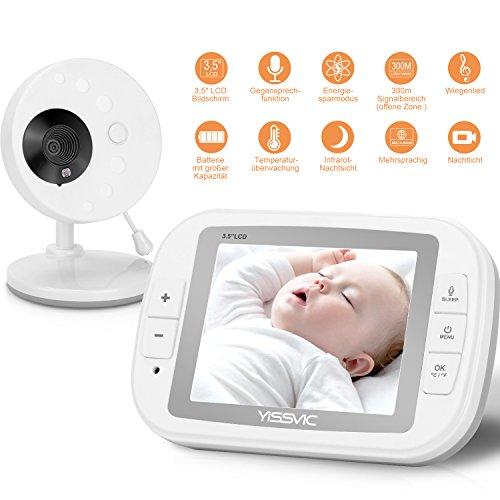 """Yissvic Babyphone 3.5"""" Wireless Baby Videokamera mit Nachtsicht Gegensprechfunktion Temperaturüberwachung"""
