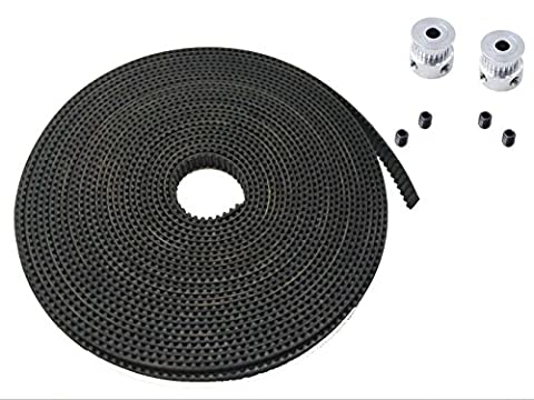 JSDL2pcsaluminiumGT220 tdentspoulies+courroiededistribution5M6mm