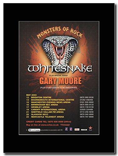 WHITESNAKE–Monsters of Rock & andere UK Tour Termine 2003Magazin Promo auf A schwarz Mount