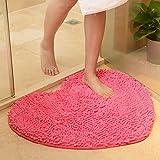 Dekorative teppiche Chenille carprt ehe zimmer herz-Geformte tür matten nicht-Slip water absorption foot pad-C (20x24inch)50x60cm