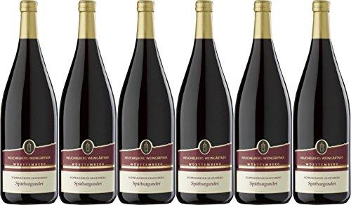 2014 Heuchelberg Weingärtner Schwaigerner Grafenberg Spätburgunder Rotwein Qualitätswein halbtrocken (6 x 1,0L)