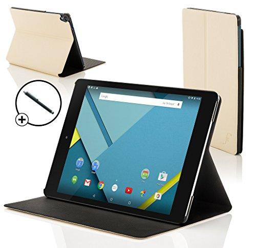ogle Nexus 9 8.9 Zoll Hülle Schutzhülle Tasche Bumper Folio Smart Case Cover Stand - Rundum-Geräteschutz und intelligente Auto Schlaf/Wach Funktion inkl. Eingabestift (WEIß) ()
