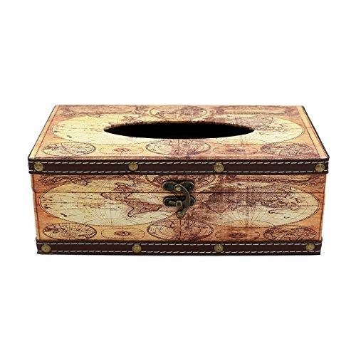 Vintage kosmetiktuchboxen Cover/Halterung, rechteckig Tissue Box, style