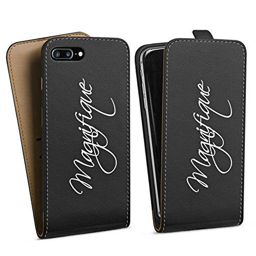 Apple iPhone 6 Plus Silikon Hülle Case Schutzhülle Magnifique Schrift ohne Hintergrund Downflip Tasche schwarz