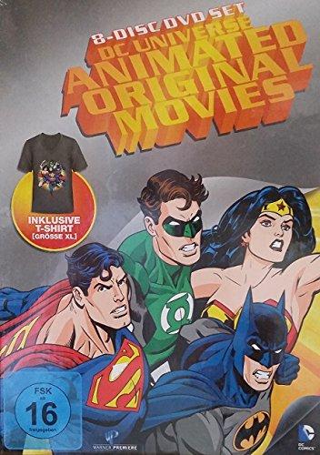 DC Universe Animated Original Movies * NEU OVP * 8 DVDs * inkl.T-Shirt