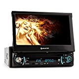 auna MVD-330 Moniceiver autoradio multimediale con display LCD Touch Screen da 7' e Bluetooth (4 x 25 Watt RMS, Porta USB MP3, SD, AUX, tuner FM, Equalizzatore)