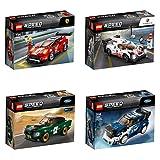 LEGO® Speed Champions 4er Set: 75884 1968 Ford Mustang Fastback + 75885 Ford Fiesta M-Sport WRC + 75886 Ferrari 488 GT3 Scuderia Corsa + 75887 Porsche 919 Hybrid