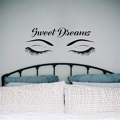 Geschlossene Augen Tapete Sweet Dream Applique Vinyl Schlafzimmer Geeignet Für Klebrige Mädchen Zimmer Wandaufkleber 57 Cm x 118 Cm - Sweet Dreams Auge