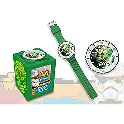 Kids Euroswan - Star Wars SW14044 Yoda Analog Clock 4 in 1 color green