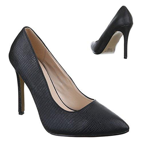 Ital-Design - Scarpe con Tacco Donna Nero (nero)