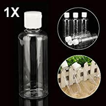 Rishil World 100ml Clear Plastic Bottles For Travel Cosmetic Lotion Container With White Caps