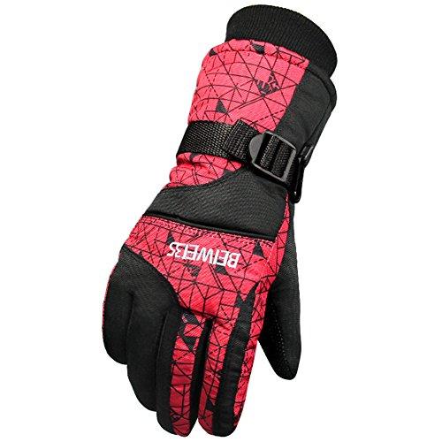 Leran guanti da sci unisex inverno caldo impermeabile guanto resistente all'invecchiamento snowboard per ciclismo, alpinismo, trekking (adulti / bambini)
