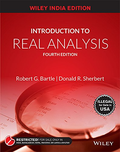 Introduction To Real Analysis, 4Th Edn por Robert G. Bartle And Donald R. Sherbert
