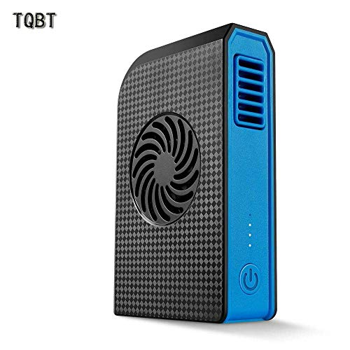 TQBT Luftkühler Mobile klimaanlage klein Ventilator turmventilator Kleine Klimaanlage Kleiner Lüfter Handheld-Handy-Ladegerät Schatz Mini tragbaren USB-Ladegerät schwarz (Mini-mobile-handy-ladegerät)