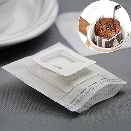 KOBWA Kaffee-Drip-Filter, SingleServe Einweg Kaffee Tee Drip Filtertüten mit hängenden Ohr, 50...