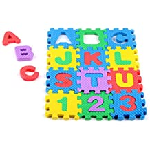 Alfombra Infantil De Puzzle Paellaesp 36 Piezas Desmontables Manta De Espuma Gigante De Suelo Alfabeto y Números Para Niños Número De Mat Educación Juguetes
