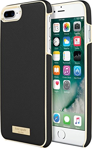 Blk Akzente (Kate Spade New York Wrap Case Schutzhülle für Apple iPhone 7 Plus / 8 Plus - schwarz/gold [Saffiano Design   Goldene Akzente   Hochwertige Materialien] - KSIPH-049-BLK)