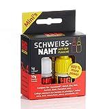 HG POWER GLUE - MINIs - La saldatura dalla bottiglia - set di adesivi per riparazioni professionali per plastica ABS ceramica pietra legno gomma - colla con adesivo industriale e granulato (5g + 10g)