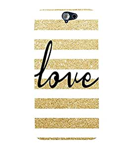 For HTC One A9 Love, White, Love Pattern, Signature Pattern, Printed Designer Back Case Cover By CHAPLOOS