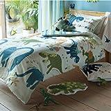 Dinosaur Single Boys Duvet Cover Set Designer Bedding