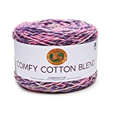 Lion Brand Yarn Comfy Cotton Blend Yarn, Polyester, Soothing Lavender, One Size