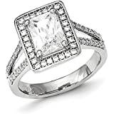 Sterling Silver and CZ Ring - Ring Size Options Range: L to P