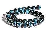 Tigerauge Blau Edelstein 12 mm Perlen Strang mit 32 Stück gebohrt