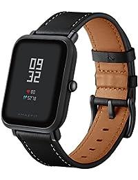 Aresh per Huami Amazfit bip giovanile, cinturino in pelle regolabile sostituzione sport di ricambio 20mm braccialetto da polso bande per Huami Amazfit bip Youth fitness Watch