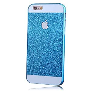 Fashion & Cover iPhone 6S/6 Exclusive Glitter Blingy Sparkling Hard Back Case Cover - Blue
