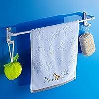 KHSKX Asciugamano singolo con 60cm di alluminio spazio bar, solida base pesante con ganci bagno accessori hardware