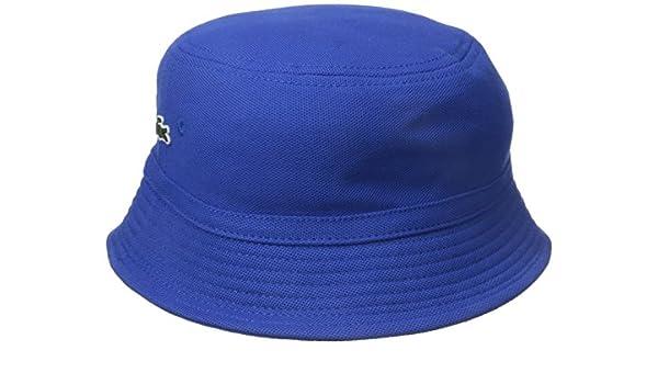 5352a6b7f13 Lacoste Men s Cotton Pique Bucket Hat