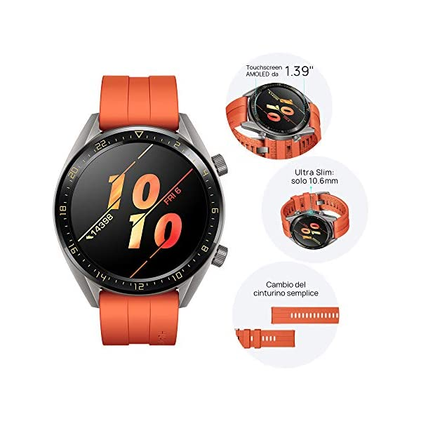 Huawei Watch GT Active - Reloj Inteligente, Naranja, 46 mm, Reloj 6