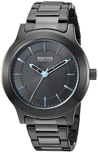Kenneth Cole Reaction pour homme en métal et acier inoxydable montre à quartz 'Sport', couleur: noir (modèle: Rk50522003)