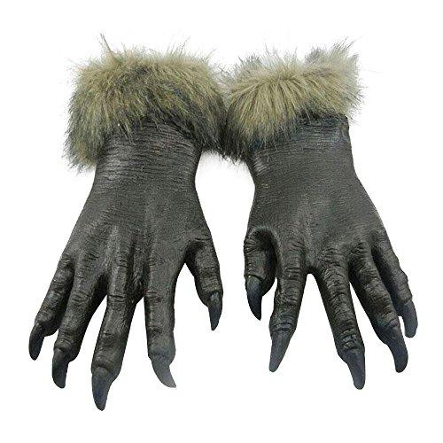 Wolf Kostüm Pfoten (Vin beauty Halloween Horror-Teufel Werewolf Wolf Pfoten Claw Hand Handschuhe Monster Hexe)