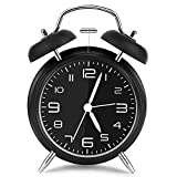 Vegena Twin Bell Réveil avec Veilleuse, Grand Cadran de 4 Pouces, Reveil Quartz...