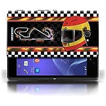 Kobalt® protector duro de nuevo caso / cubierta para el Sony Xperia M2 | España/catalunya Diseño | Bandera pista f1 colección