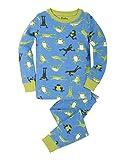 Hatley Jungen Organic Cotton Long Sleeve Printed Pyjama Set Blue