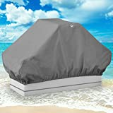"""NEH® Boat Seat Cover Back to Back Double Seat Storage Cover - 50""""L x 22""""W x 22""""H - Gray Heavy Duty Water, Mildew, and UV Resistant Thick Polyester Fabric - North East Harbor - amazon.co.uk"""