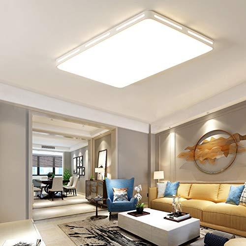 Luce soggiorno moderno minimalista luce rotonda telecomando intelligente camera da letto quadrata plafoniera nera 90x60 quadrati