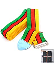 equipaje Maleta Correas Ajustables de la Combinación de Accesorios de Viaje Cinturones Maleta Amarillo y rojo