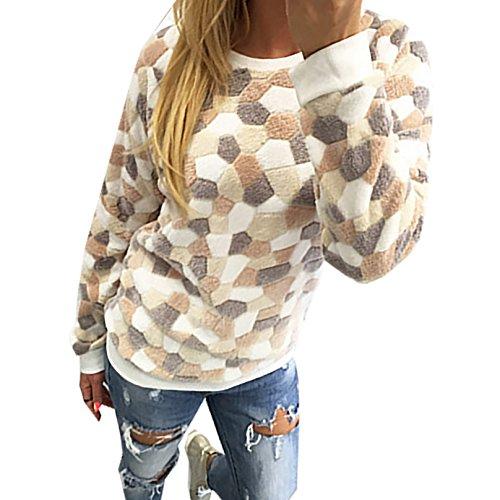 Short Shirt Tops Blusen Damen Rundhalsausschnitt Pulli Loose Oberteile Beiläufige Blusen Hemden Langarm T-Shirt Normallacks Gelb