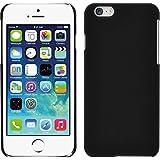 PhoneNatic Case für Apple iPhone 6s / 6 Hülle schwarz gummiert Hard-case für iPhone 6s / 6 + 2 Schutzfolien