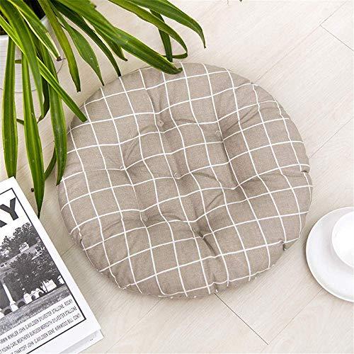 Morelucky set di 4 cuscini per sedie con lacci, 40 x 40 x 8 cm, per sedie da pranzo, cucina, giardino, soggiorno, patio, ufficio, interni ed esterni, i, rotondo
