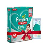#7: Pampers Medium Size Diapers Pants (76 count) and Pampers Fresh Clean Baby Wipes (64 count) combo pack