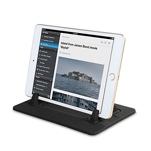 EREACH Supporto antiscivolo per cruscotto auto per Phone Samsung S7/S6/S5/S4/S3/iPhone 4s/5/5s/5Se/6/6S(plus)/7(Plus), supporto per Tavolo PC (Rosso) Nero