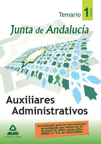 Auxiliares Administrativos De La Junta De Andalucía. Temario. Volumen I