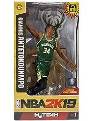 McFarlane NBA 2K19 Giannis Antetokounmpo Milwaukee Bucks Figura de acción ...