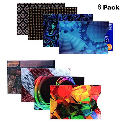 RFID Bloqueo Manga - Paquete de 8 protectores de tarjetas de...