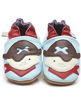Zapatos piel de Luxe para bebé pirata