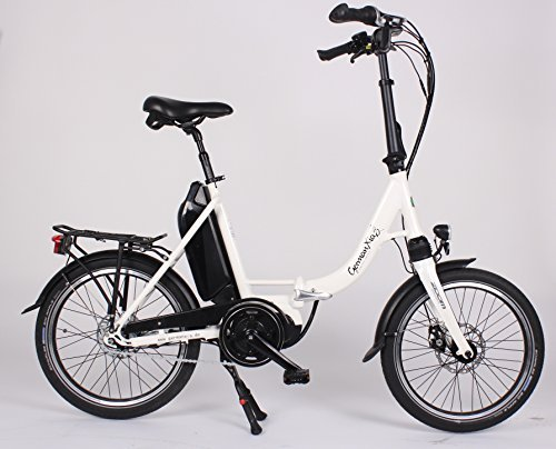 Premium GermanXia Elektro-Faltrad Mobilemaster CM 8G Nabenschaltung SHIMANO mit Rücktritt-/Rollenbremsen, max. 80 Nm Mittelmotor mit Drehmomentsensor, bis zu 145 km nach StVZO